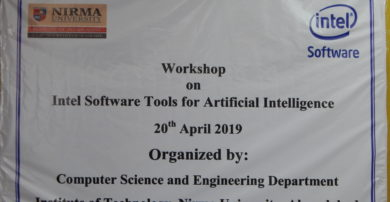 """INTEL Software conducted a workshop on """"Tools for Artificial Intelligence"""""""